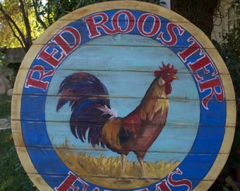 Red Rooster Farms Sign