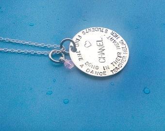 Dance Teacher Gift, Dance Teacher Necklace, Teacher Gift