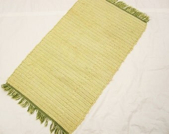 Celery/Sage Green Rug - Hand-loomed Rag Rug - Great Size - Thick Rag Rug -  Loom Threads - Forever Rug