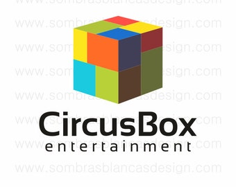 OOAK Premade Logo Design - Circus Box - Perfect for a social media manager or a public relationships business