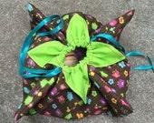 Flower Style Knitting or Crochet Project Bag - medium size