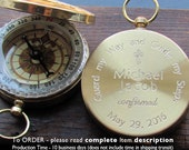 Confirmation Gift. Engraved Compass. Confirmation Gift Boy. Godparents Gift. Working Compass. Custom. Personalized.