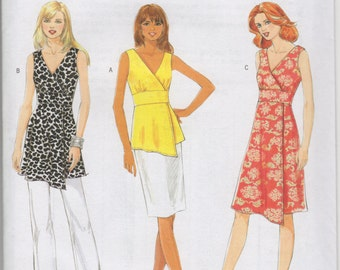 Butterick B5485 - UNCUT and OOP - The Cut Line Collection - Misses' Top, Tunic & Dress Sewing Pattern - Sizes 14-20