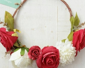 Rosey Days Floral Crown