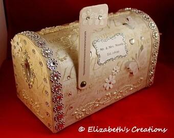 Personalized Wedding Card Box, Wedding Card Mailbox, Keepsake Wedding Card box, Wedding Mailbox for cards, Wedding Card Holder