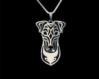 Fox Terrier - sterling silver pendant and necklace