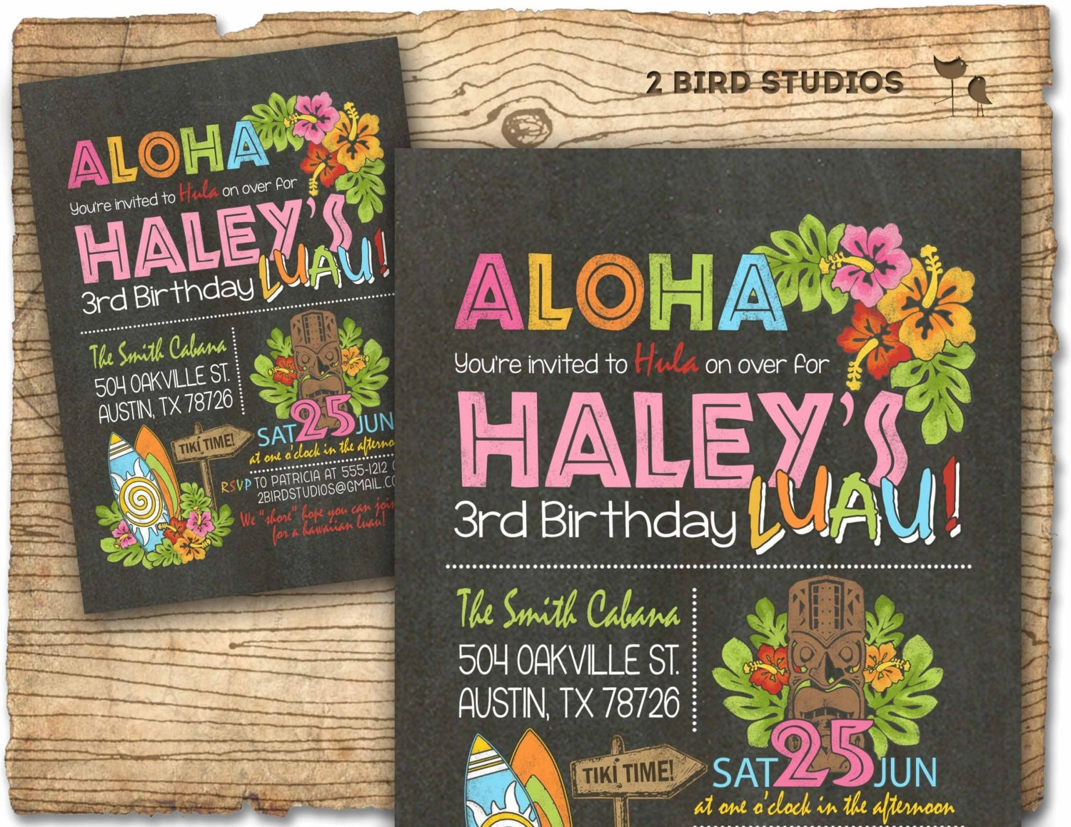 Hawaiian birthday invitation Luau birthday invitation – Party City Invitations for Birthdays