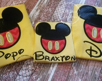 Boy Mouse Custom embroidered Disney Inspired Vacation Shirts for the Family! 824