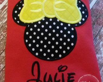 Girl Mouse Gorgeous Custom embroidered Disney Inspired Vacation Shirts for the Family! 805