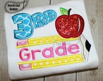 Back to School - Third Grade - Customized Tee Shirt - Customizable