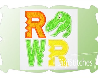 Dinosaur Jurassic-inspired RAWR Custom Tee Shirt - Customizable -  Infant to Youth 14