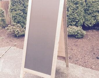 58'' Tall Double-Sided A-Board Chalkboard Easel Sidewalk Sign A-Frame for Bistro, Wedding, Seating Chart, Coffee Bar Shop, Sandwich Board