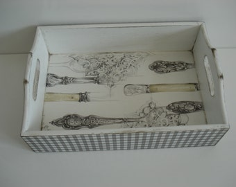 Handmade Restangular Wooden Serving/ Jewellery/ Trinket/ Bread Tray LOVELY KITCHEN.