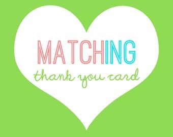 Matching Thank You Card