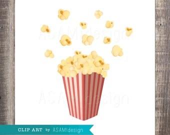 Popcorn Clipart - Bursting Popcorn Clip Art - PNG