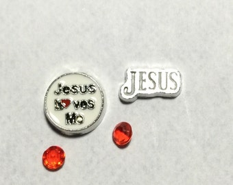 Jesus Floating Charms