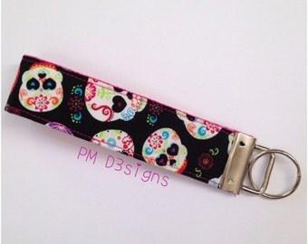 Dia de Los Muertos Keychain, keychains, key fob, key fobs, keychain, sugar skull, sugar skull key chain, day of the dead