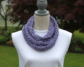 Light-weight Cotton Summer Infinity Scarf in Lavender