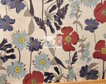 """100% Cotton Fabric By Alexander Henry - Blue Bell - Sold By The Yard  - 60"""" Width (FH-1754)"""
