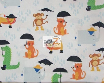 """Rainforest Fun White By Arrolynn Weiderhold For Wilmington Prints 100% Cotton Fabric 45"""" Wide By The Yard (FH-1813)"""