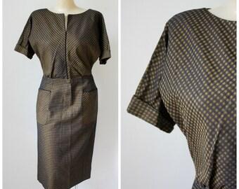 Vintage Dress / Carl Naftal Dress / 1950's Dress / Wiggle Dress / Pin Up Dress / Mid Century Dress / Cocktail Dress S