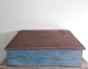 Wooden Farmer's Tool Chest, General Store Clerk Desk