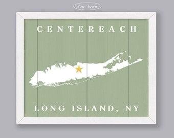 Long Island - Custom Wood Sign - Early American Series - Rustic Home Decor  Handmade sign for Long Island, NY - Housewarming Family gift