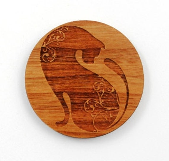 Laser Cut Supplies-1 Piece.Siamese Cat Charm - Laser Cut Wood Cat - Little Laser Lab Sustainable Wood Products