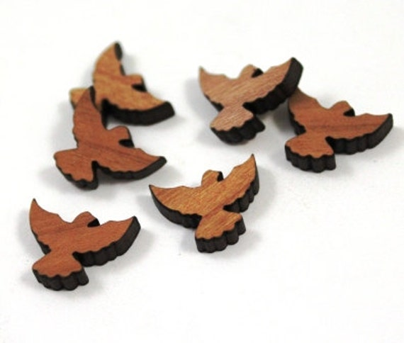 Laser Cut Supplies-8 Pieces.Bird Charms - Laser Cut Wood Bird -Earring Supplies- Little Laser Lab Sustainable Wood Products