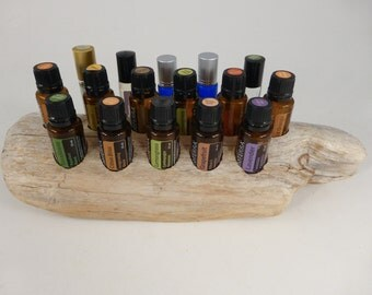 Driftwood Essential Oil Holder, Essential Oil Display, Driftwood Essential Oil Display, Storage for Essential Oils,