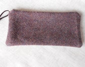 Pencil Case Zipper Pouch Felted Wool Tweed