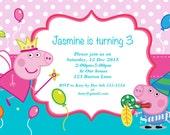 Peppa Pig Invitation - Printable Peppa Pig Birthday Invitation