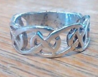 Huge Gents' 925 Silver Celtic / ID Ring  Size X-Y / US: 11 3/4 - 12 1/4 New Old Stock