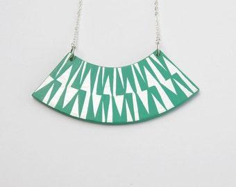 ZIG ZAG Necklace Turquoise