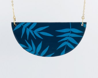 Necklace TROPICAL - Navy - Cobalt -