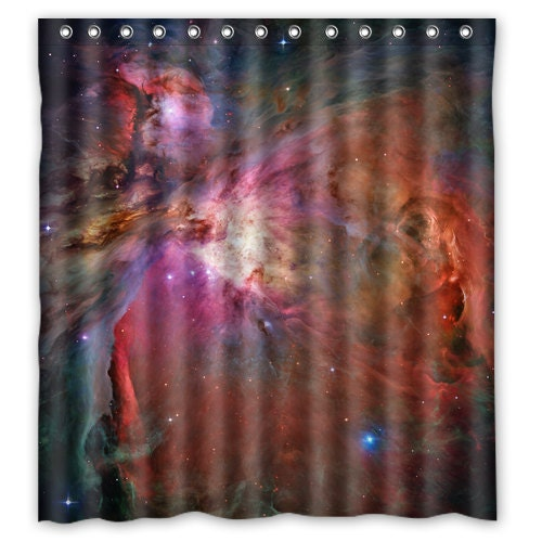 Outer Space Shower Curtain Galaxy Bath Curtain Space By Xddesigns