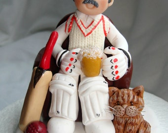 Cricket Enthusiast  Funny Birthday Cake Topper- 18th 21st 30th 40th Birthday Cake Topper