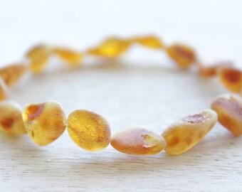 Elastic Raw Baltic Amber bracelet for mommy.