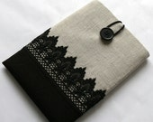 1011.6 Custom Size Laptop Case MacBook Air Sleeve Chromebook Case SUPERIOR Shock Absorbent Foam Padding  Linen with Lace