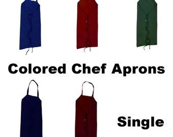 Colored Chef Apron - Single