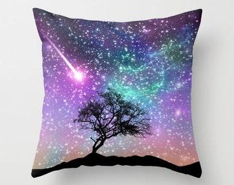 Violet Space Pillow Case Lilac Nebula Pillow Space Pillow Cover Space Throw Pillow Throw Pillow Space Abstract Throw Pillow Colorful Cover