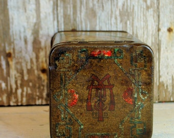 Antique JAPAN TIN face flowers OLD antique one of the nicest pieces lovely janpanese figures marked with M rare sigh so lovely women geisha