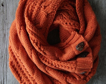BACK TO SCHOOl Sale! The Perfect Scarf ™ -  Pumpkin Scarf, Oversized Scarf, Fall Scarves, Orange Scarf