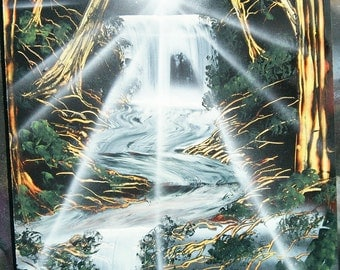 Spray Paint Art - Nature Scene customer orders.