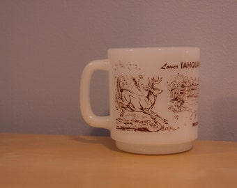 Vintage Glasbake Collectible Mug Lower Tahquamenon Falls