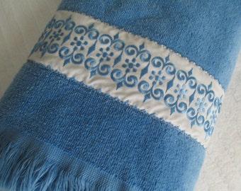 SALE - BLUE Bath Towel