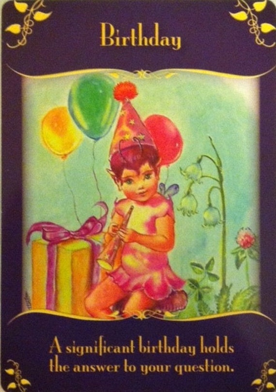 Items Similar To Fairies Birthday Reading Happy Birthday