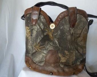 Camo bucket purse