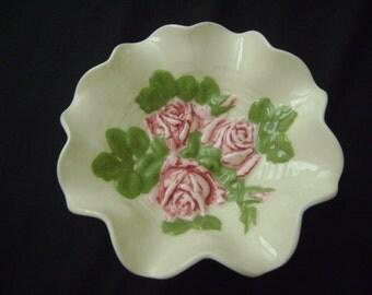 Vintage 1978 Ceramic Rose Bowl