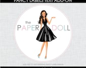 FANCY LABELS TEXT Add-On : Printable Designs by The Paper Doll